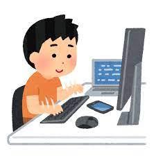 コンピューターを使いこなす子供のイラスト(男の子) | かわいいフリー素材集 いらすとや